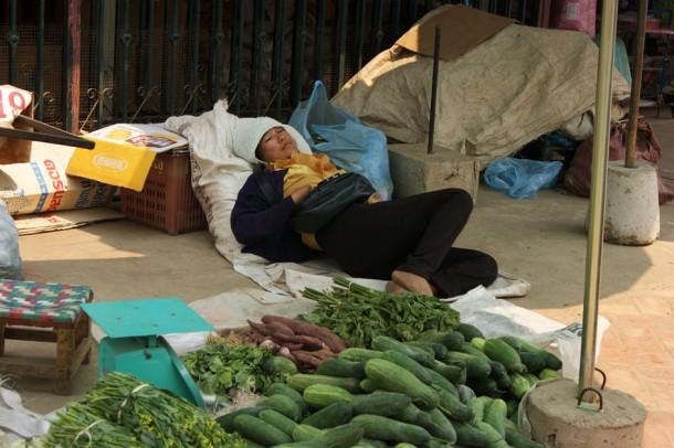 market in Laos