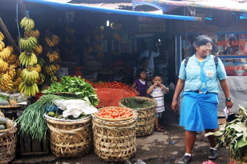 Городской рынок в Берастаги
