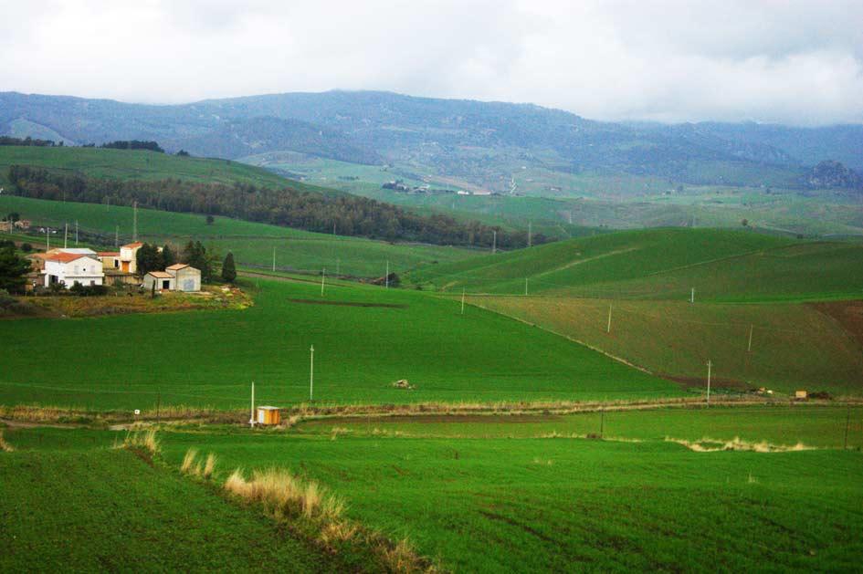Сицилия красивый пейзаж