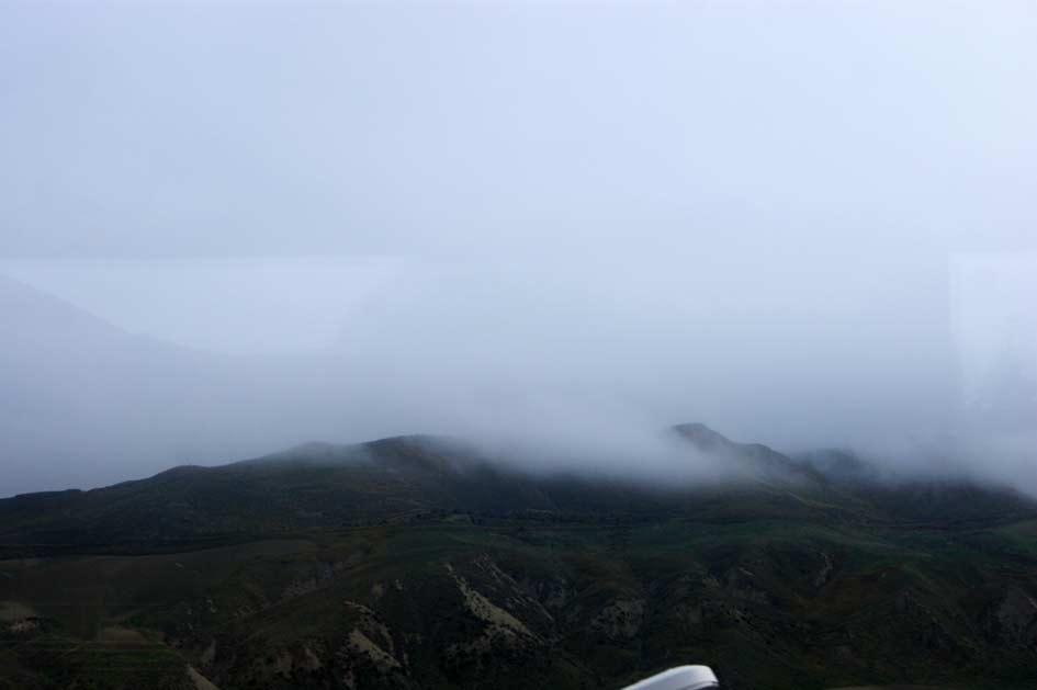 тучи в горах Сицилии