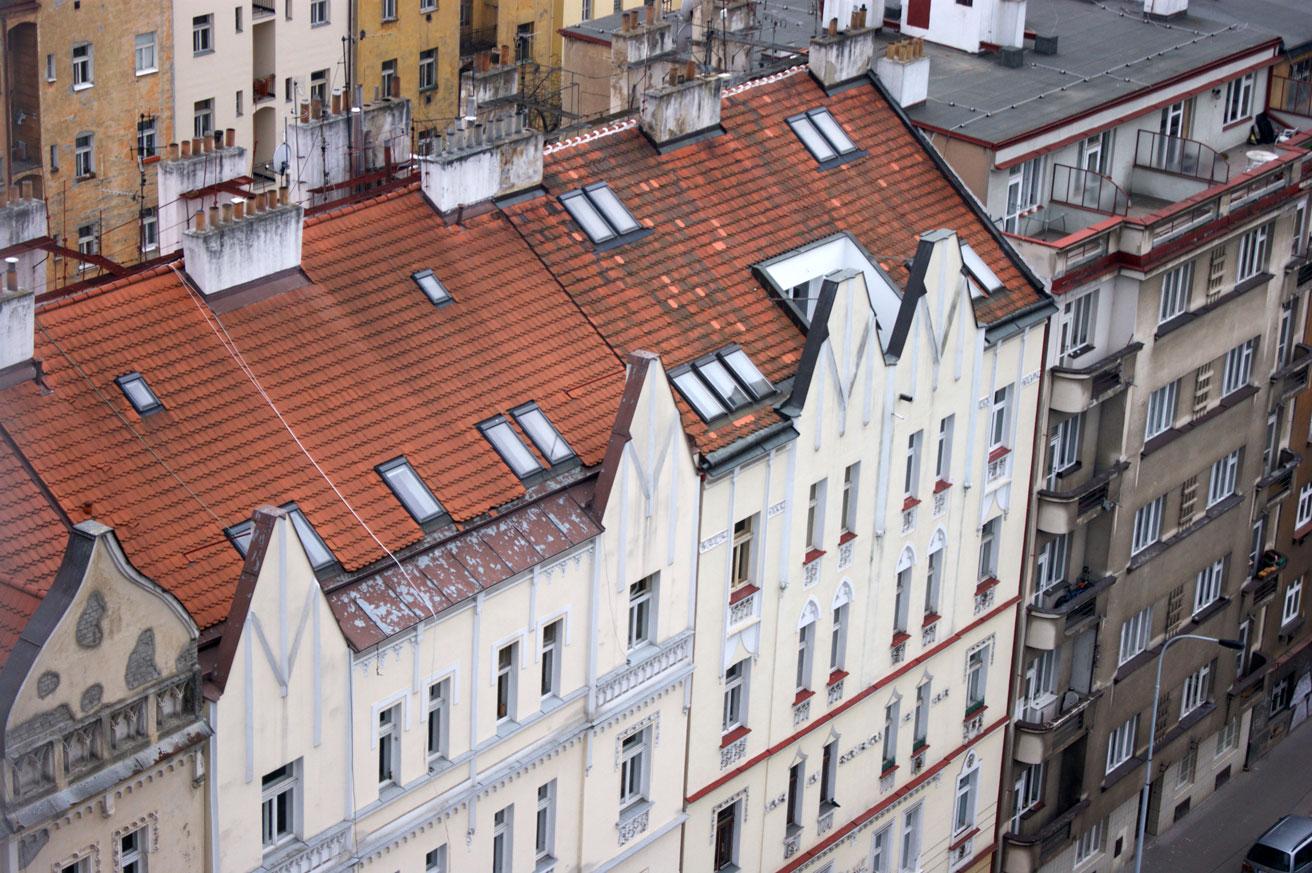 Красные крыши, черепица