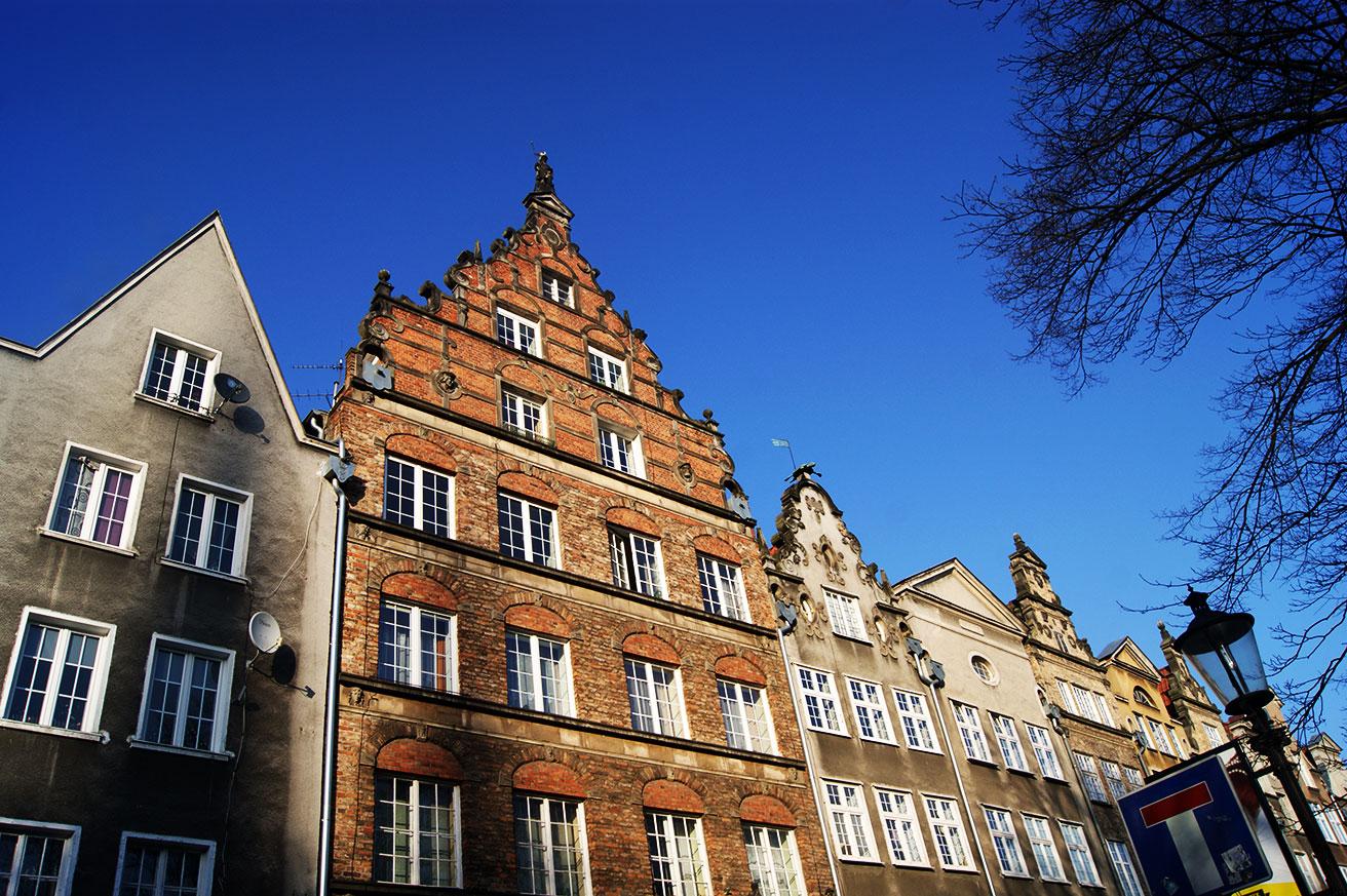 узоры домов в Гданьске