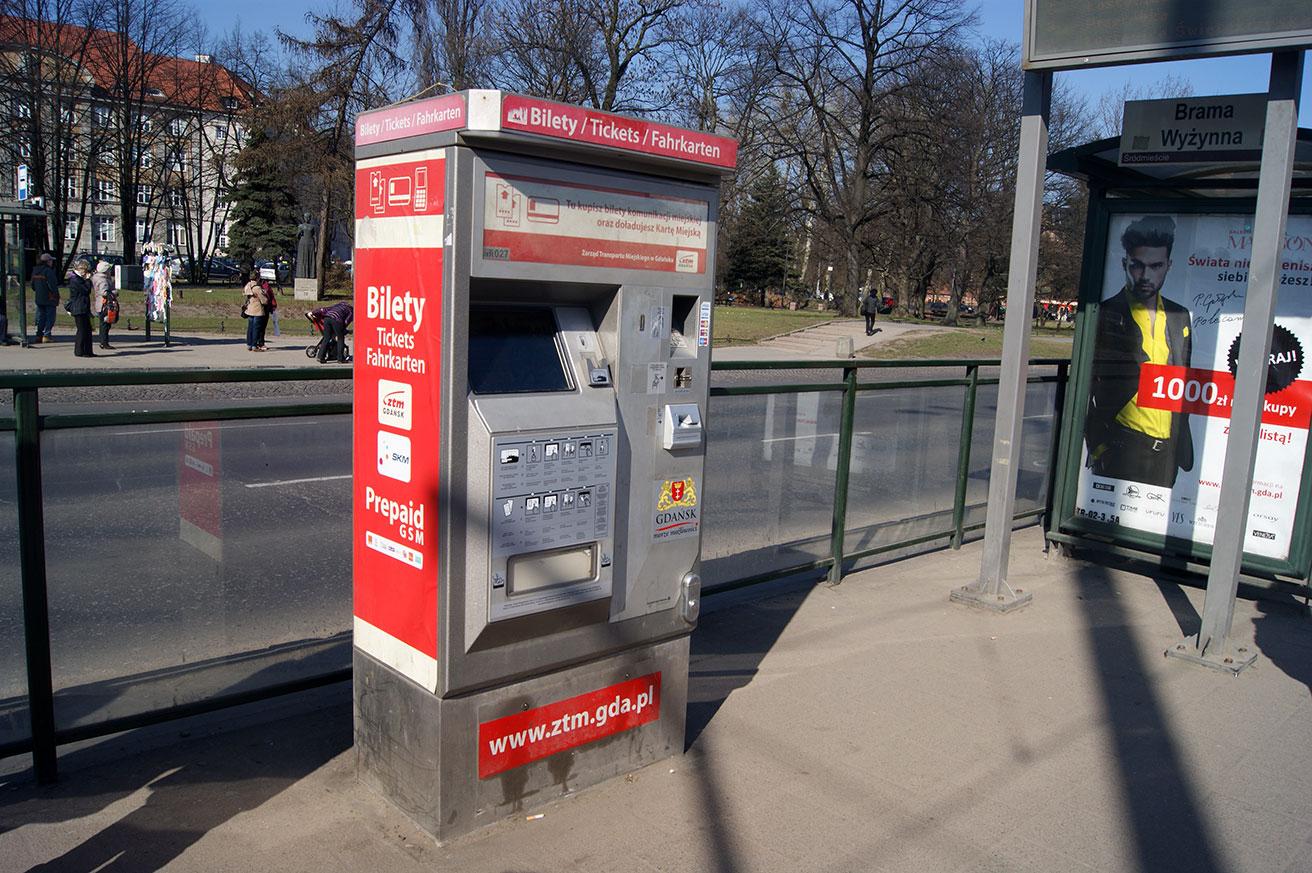 билет на автобус в Гданьске