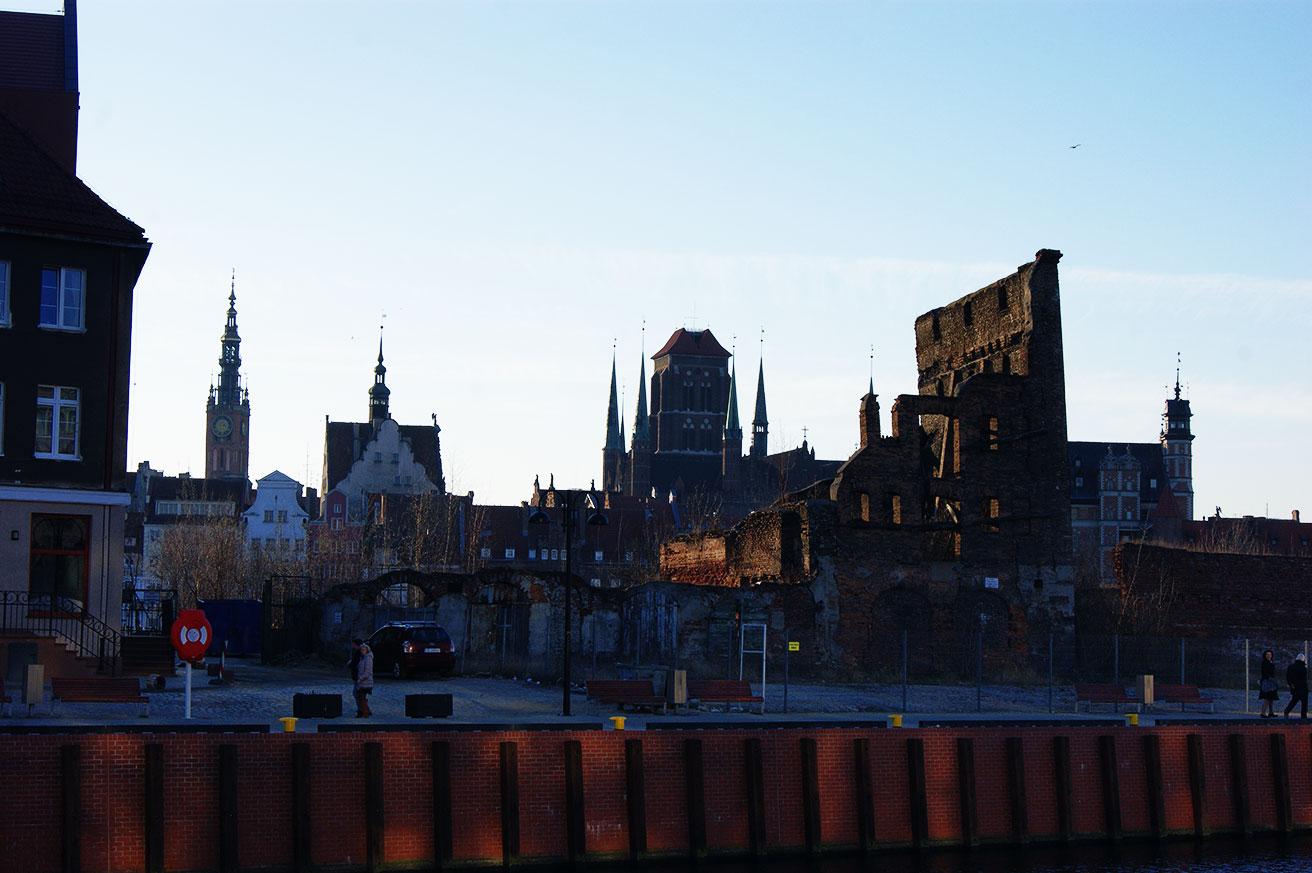 вид на набережной Гданьска