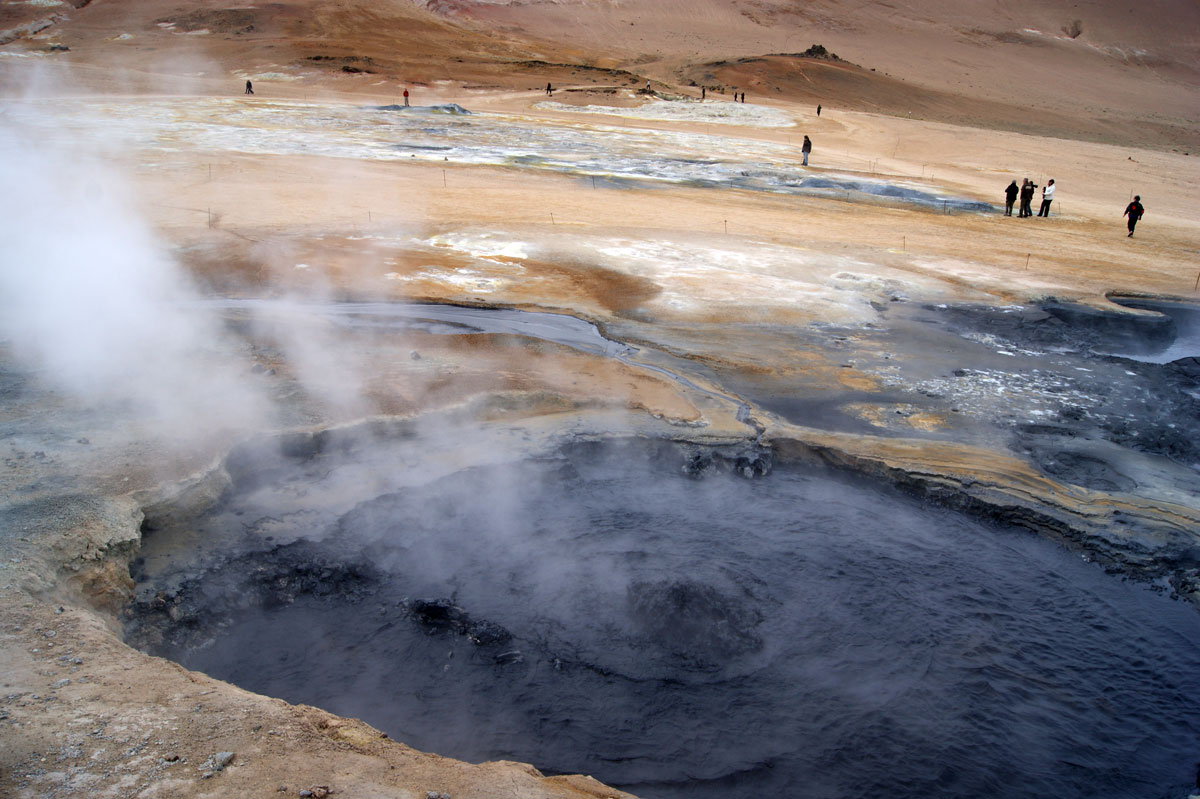 Исландия вулкан крафла