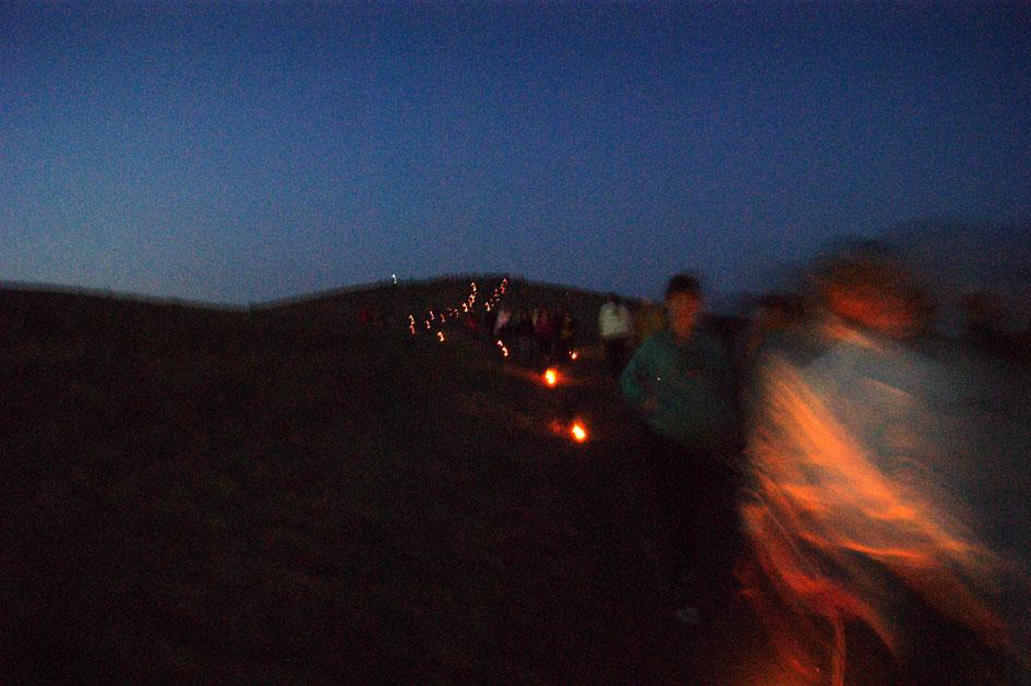 Аркаим-ночью