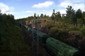 поезд в Выборге