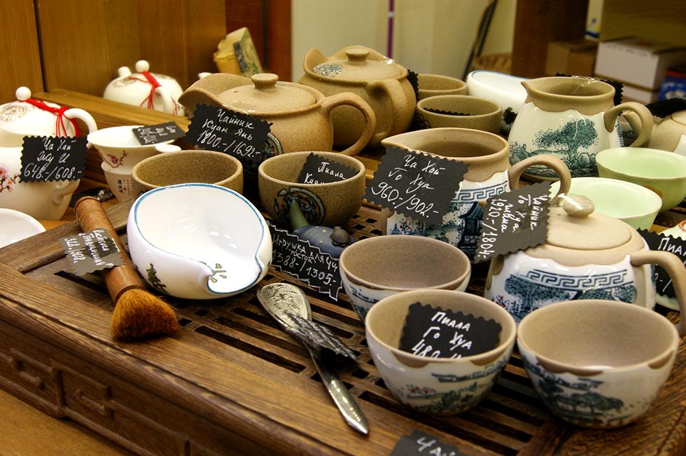 Посуда в магазине «Хороший чай»