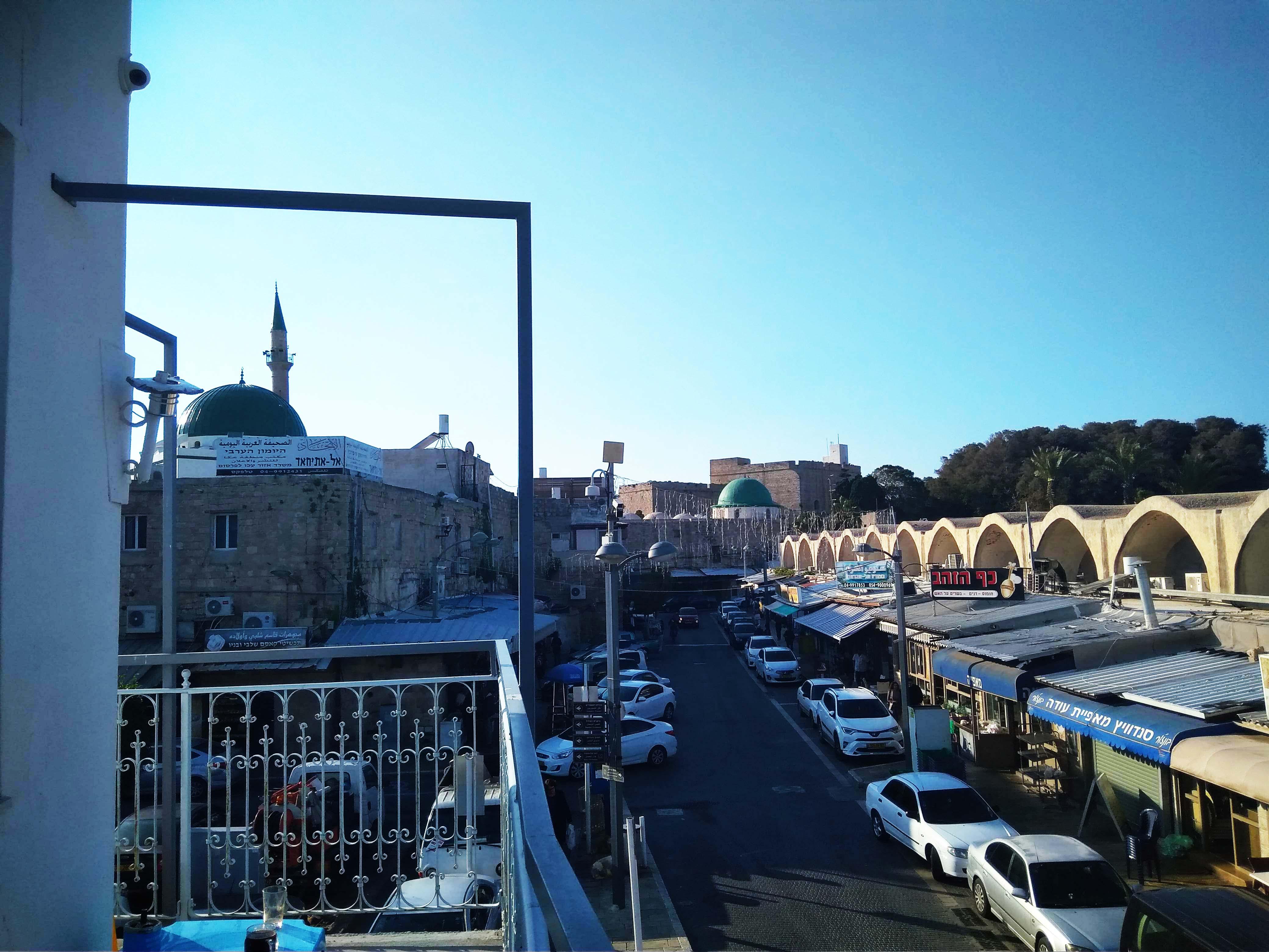 Вид с балкона хостела в Акко